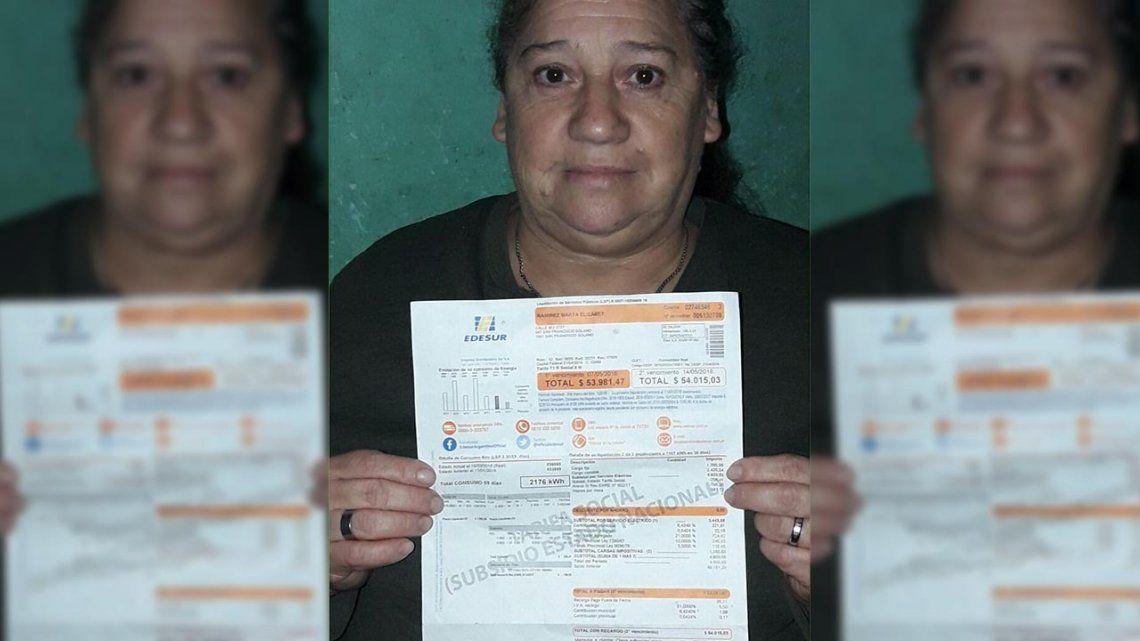 La odisea de una pensionada madre de 7 hijos: EDESUR le reclama $54.000