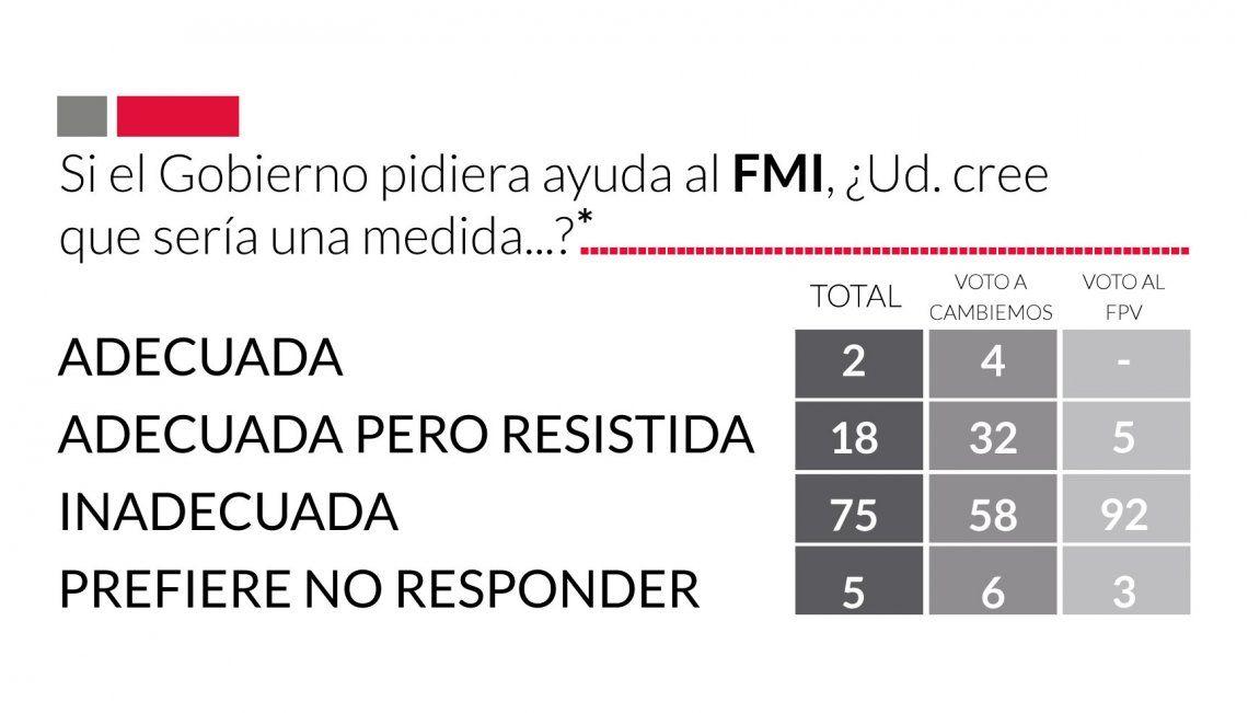 La encuesta que anticipó el descontento general por el pedido de ayuda al FMI