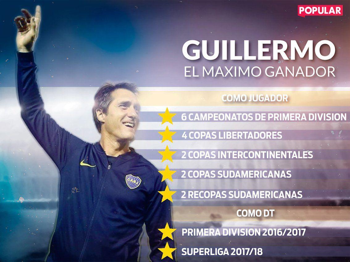 Guillermo superó a Battaglia y se convirtió en el ídolo más ganador de Boca
