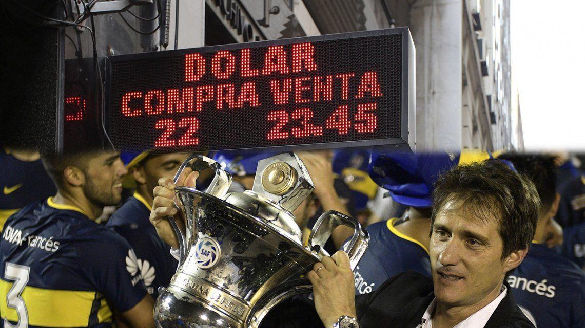 La devaluación del peso desde que Boca agarró la punta hasta el bicampeonato