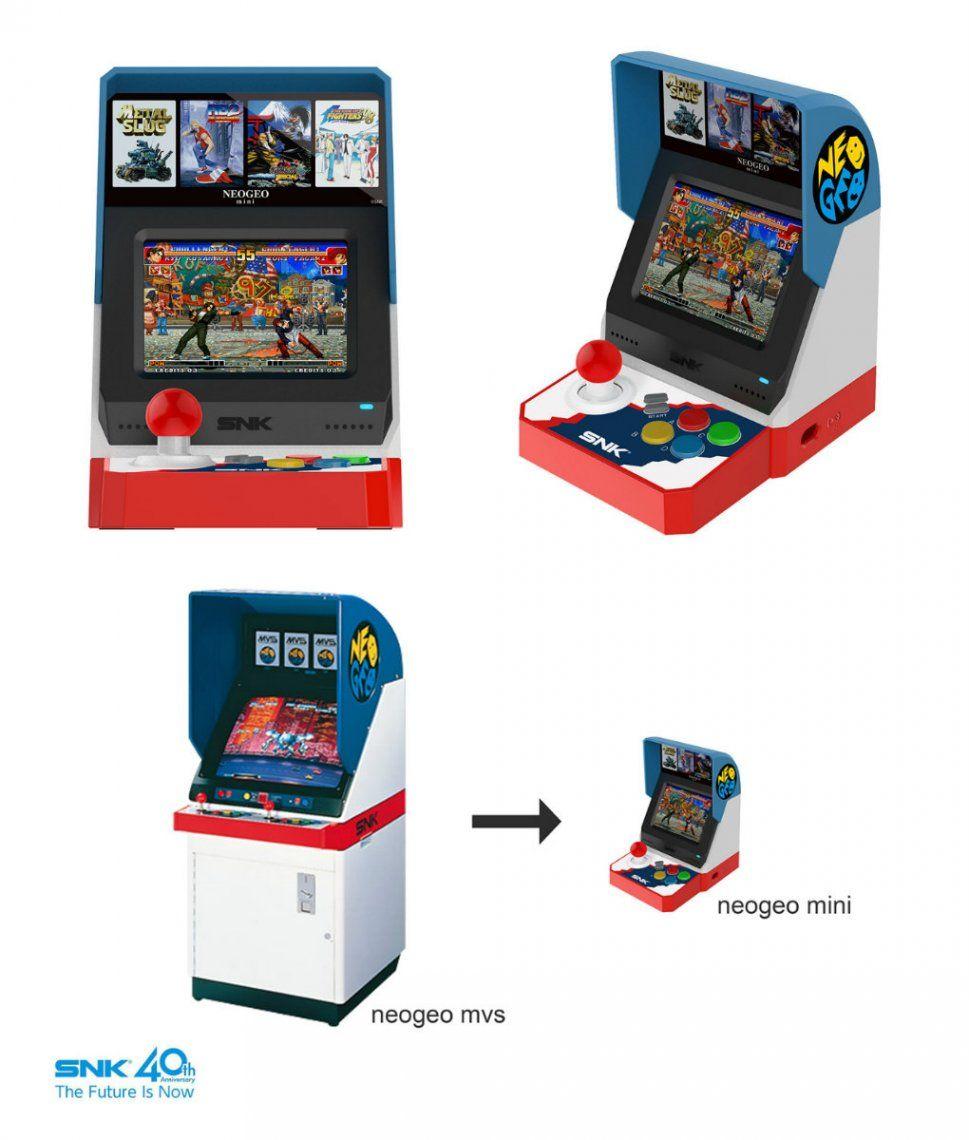 SNK confirmó el lanzamiento de la consola Neo Geo en miniatura