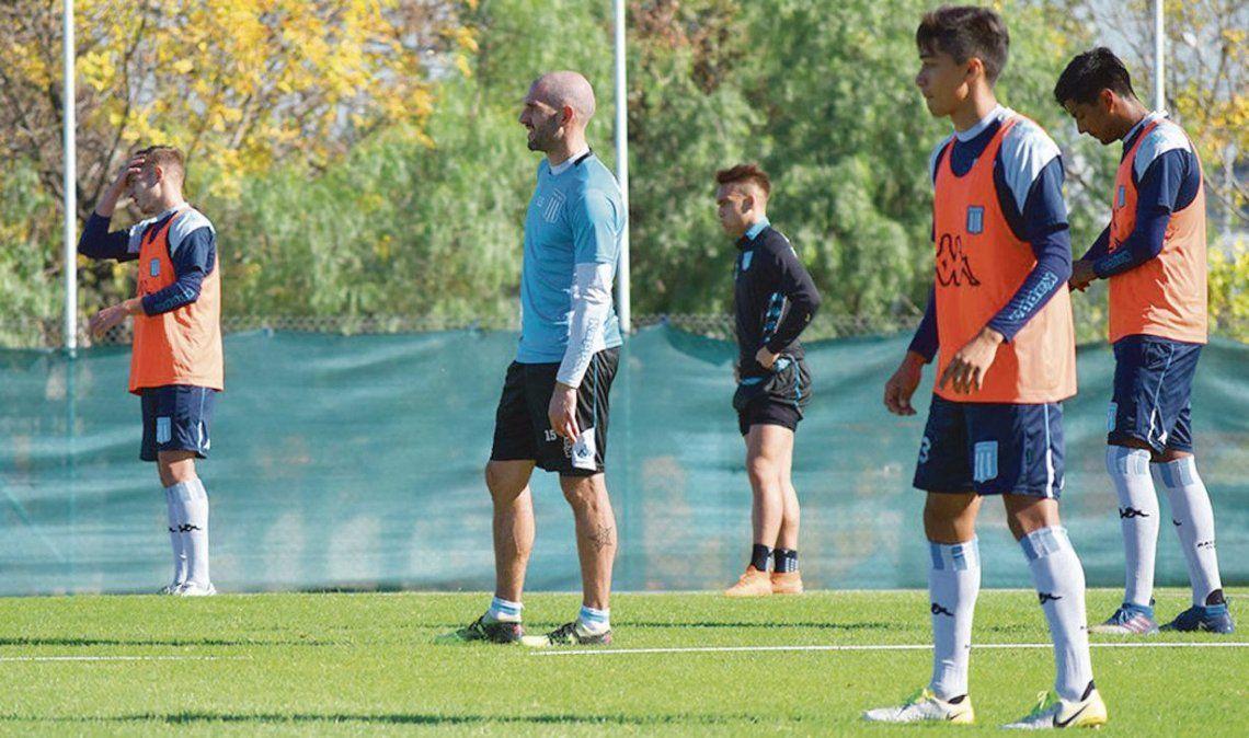 dLisandro López en el entrenamiento de ayer. El equipo de Coudet se jugará todo mañana ante Colón.