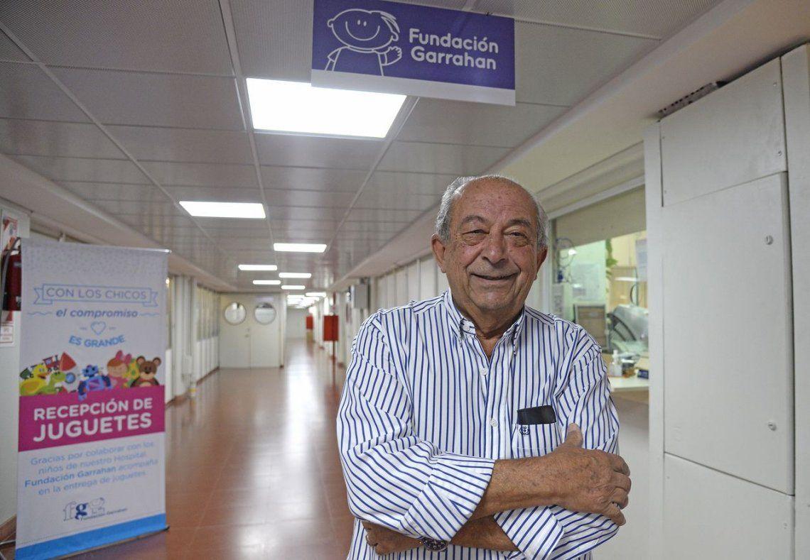 Menehem, el pilar de un trabajo a pulmón en la Fundación Garrahan