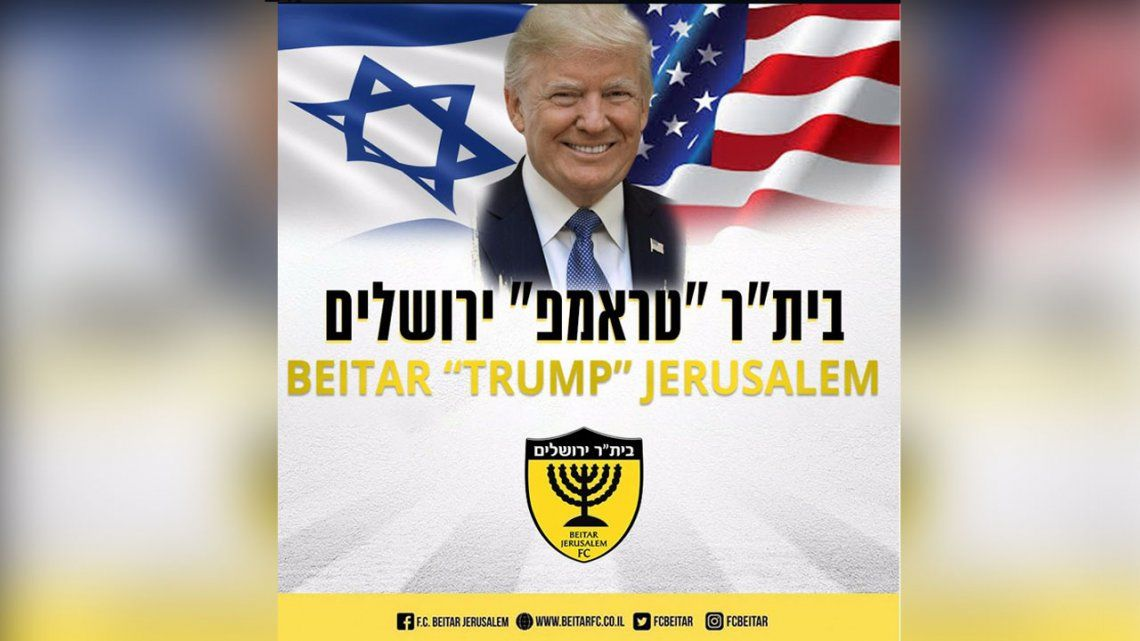¿El peor club del mundo? Beitar Jerusalén cambia su nombre por Donald Trump