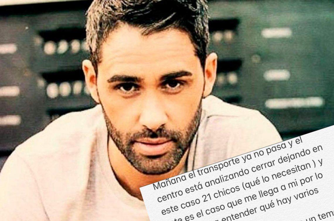 El desesperado pedido del Pollo Álvarez por la salud de su hermana