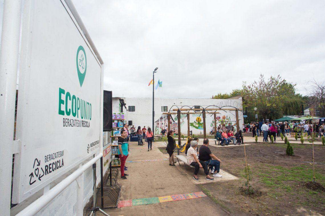 Inauguraron la primera eco plaza de Berazategui