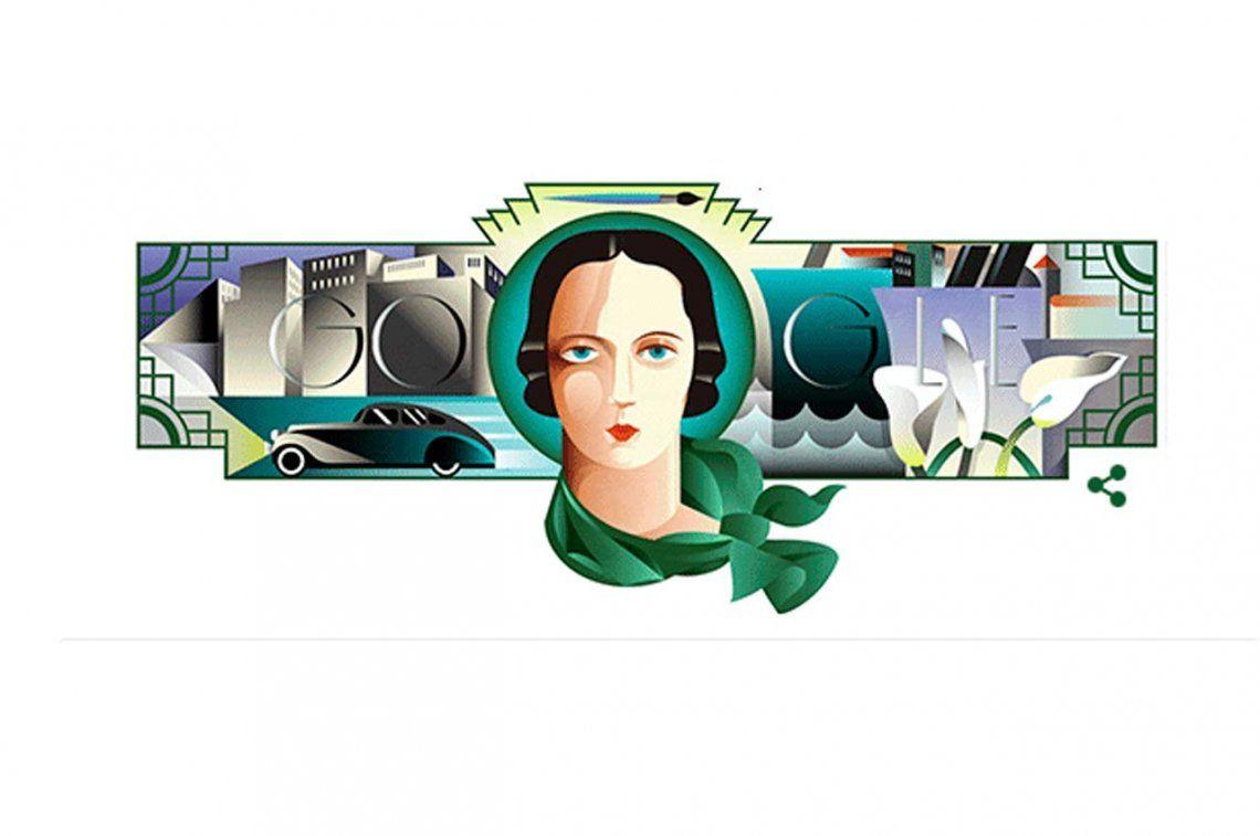 Google recuerda a la pintora polaca Tamara de Lempicka