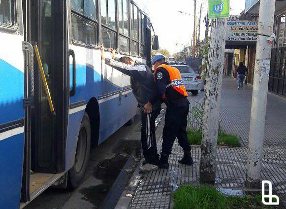 Lanús: dos detenidos en nuevo operativo de control realizado en colectivos