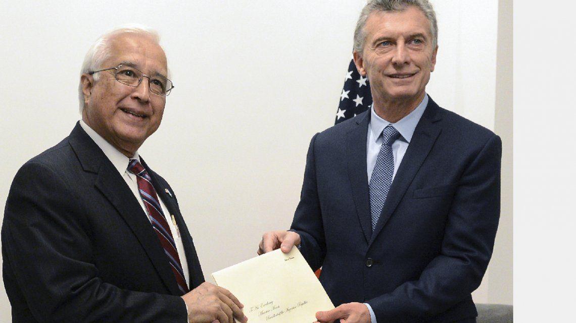 El Presidente recibió al nuevo embajador de Estados Unidos