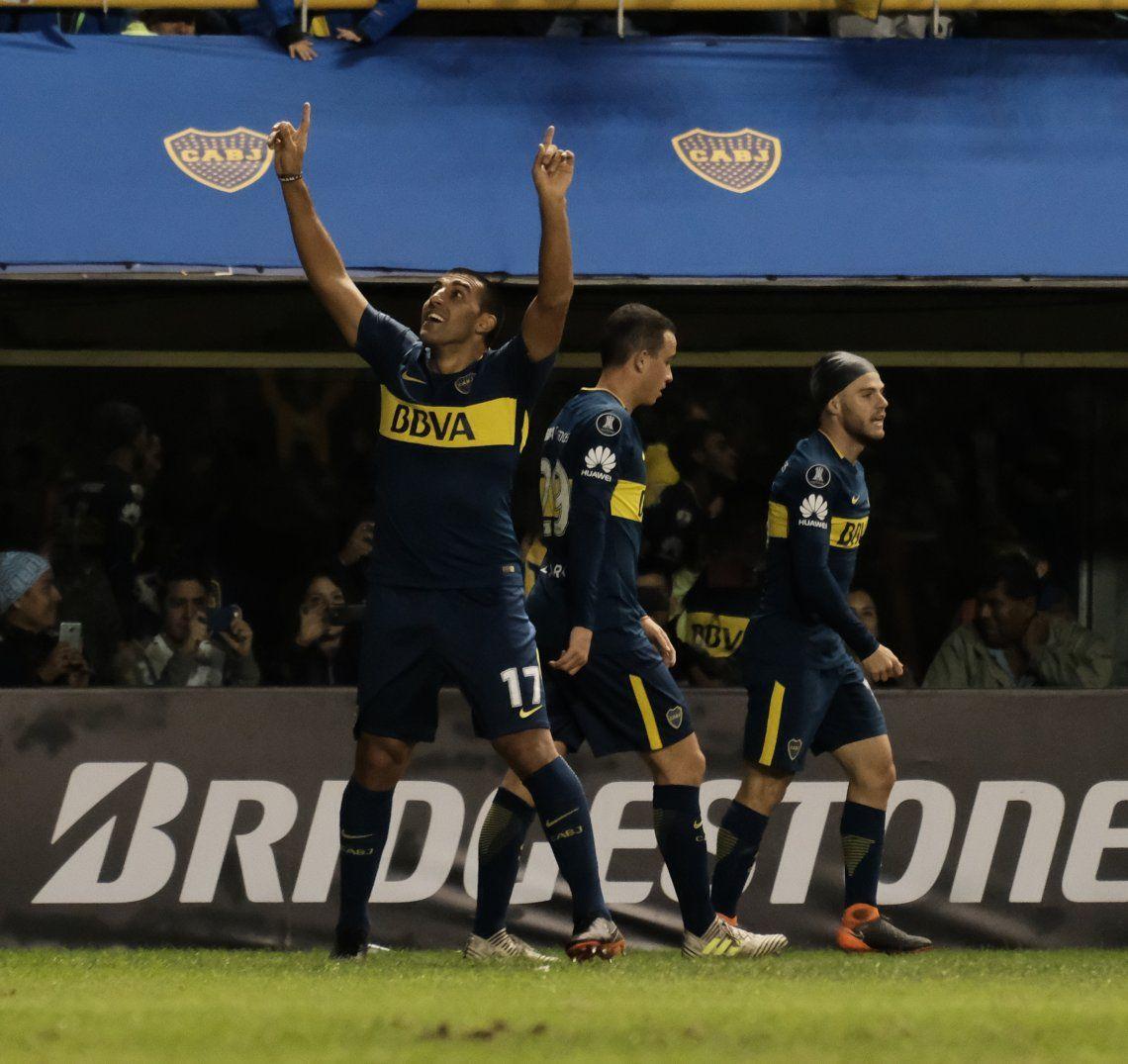 Boca goleó, Palmeiras le dio una mano, y clasificó a octavos de la Copa Libertadores