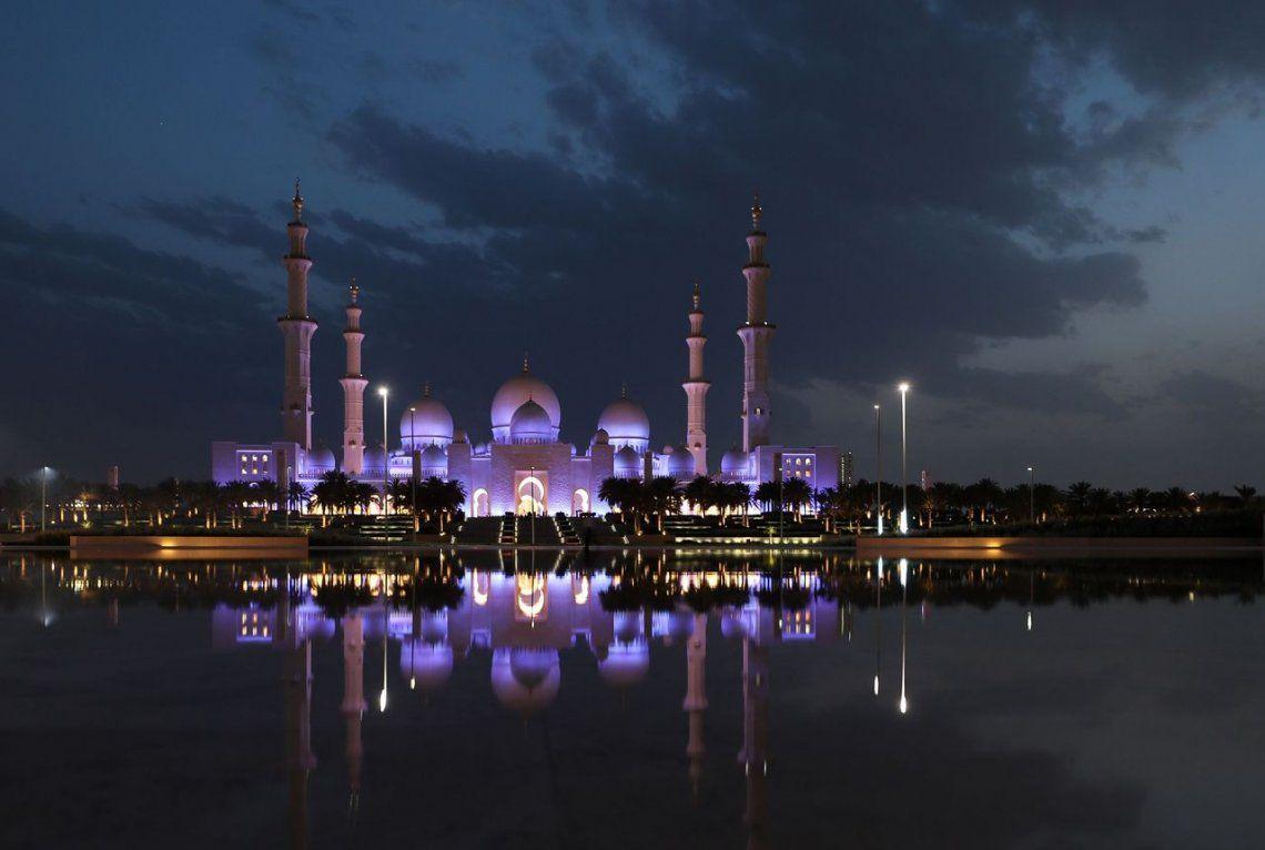 La Gran Mezquita Sheikh Zayed en Abu Dhabi.