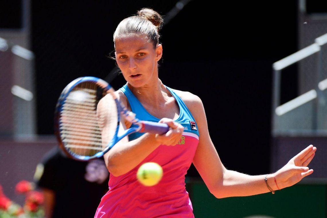 La tenista Pliskova destrozó su raqueta contra la silla de la jueza tras perder