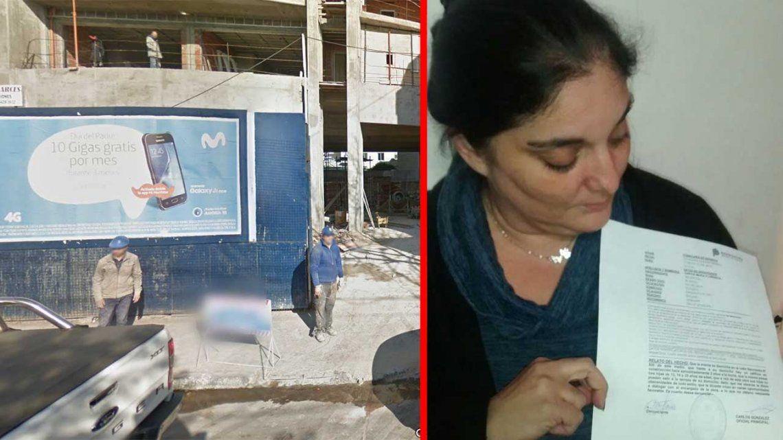 Denunció a obreros de una construcción por el acoso de sus tres hijas