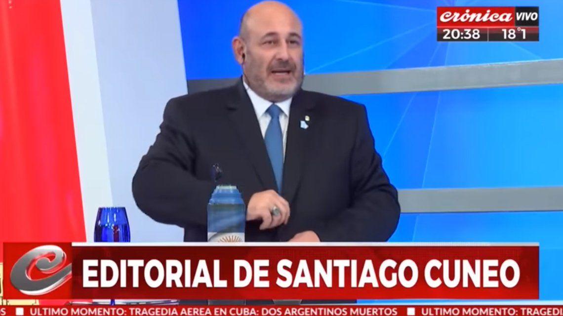 CrónicaTV echó a Santiago Cúneo por sus dichos antisemitas y misóginos