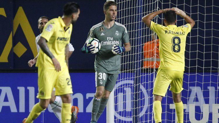 Zidane hizo debutar a su hijo Luca en el arco de Real Madrid