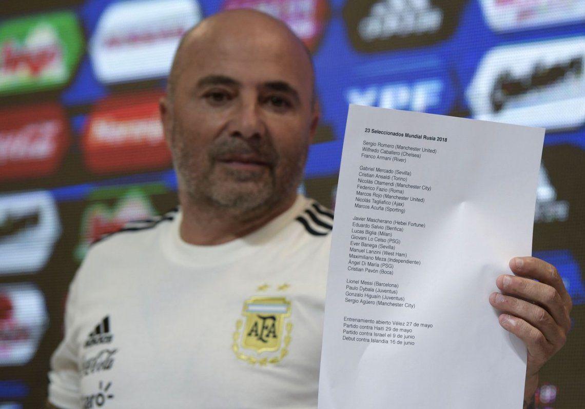 Nombre por nombre, cómo definió Sampaoli la lista de 23 para el Mundial de Rusia
