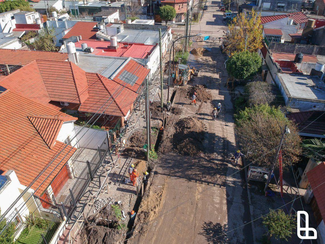 Lanús: 24500 vecinos se beneficiarán con la extensión de la red cloacal