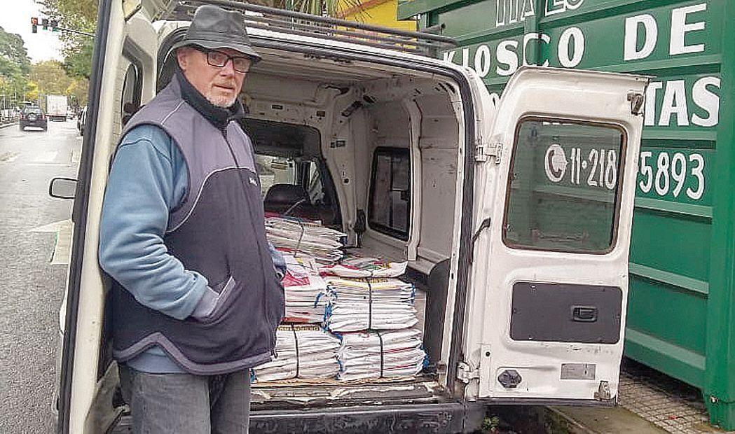 dLa exitosa convocatoria quedó materializada en dos pallets llenos de paquetes.