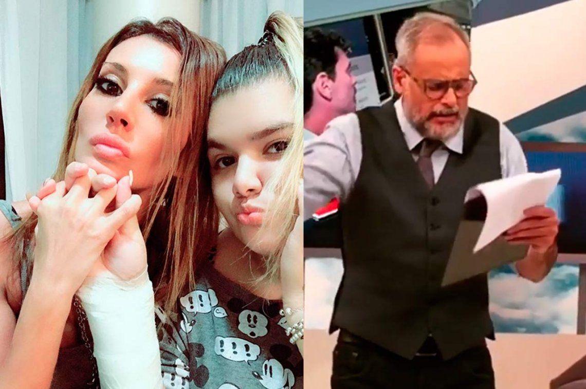 Natacha Jaitt filtró un escandaloso audio de Jorge Rial contra su hija