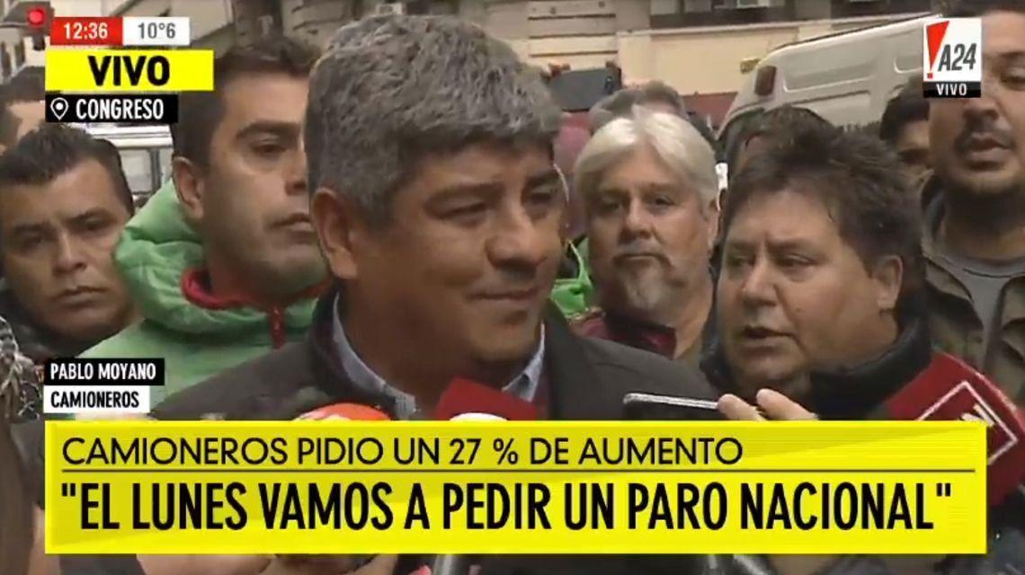 Pablo Moyano de Camioneros: El lunes vamos a pedir un paro nacional