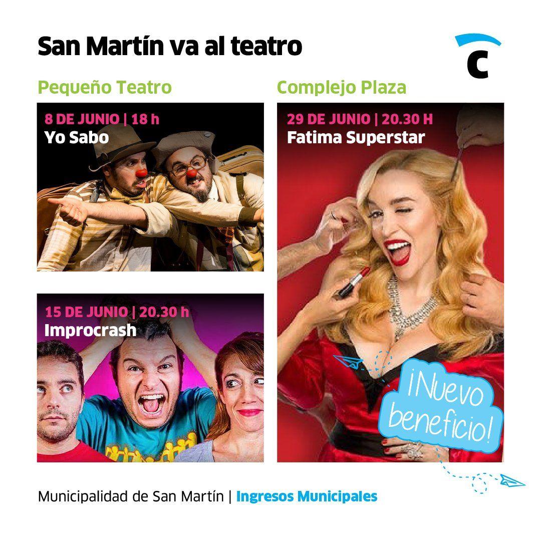 San Martín: propuestas teatrales para vecinos que están al día