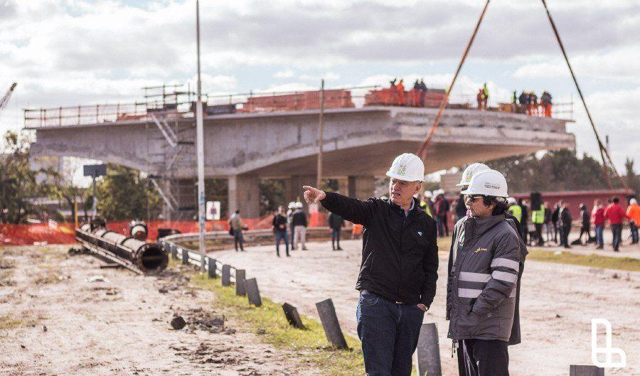 Avanza la obra del Puente Lacarra en Lanús Oeste