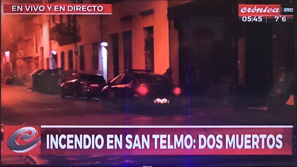 Incendio trágico en San Telmo: un matrimonio muerto