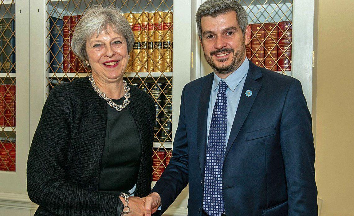 dMarcos Peña mantuvo un encuentro con Theresa May en la sede de Downing Street.