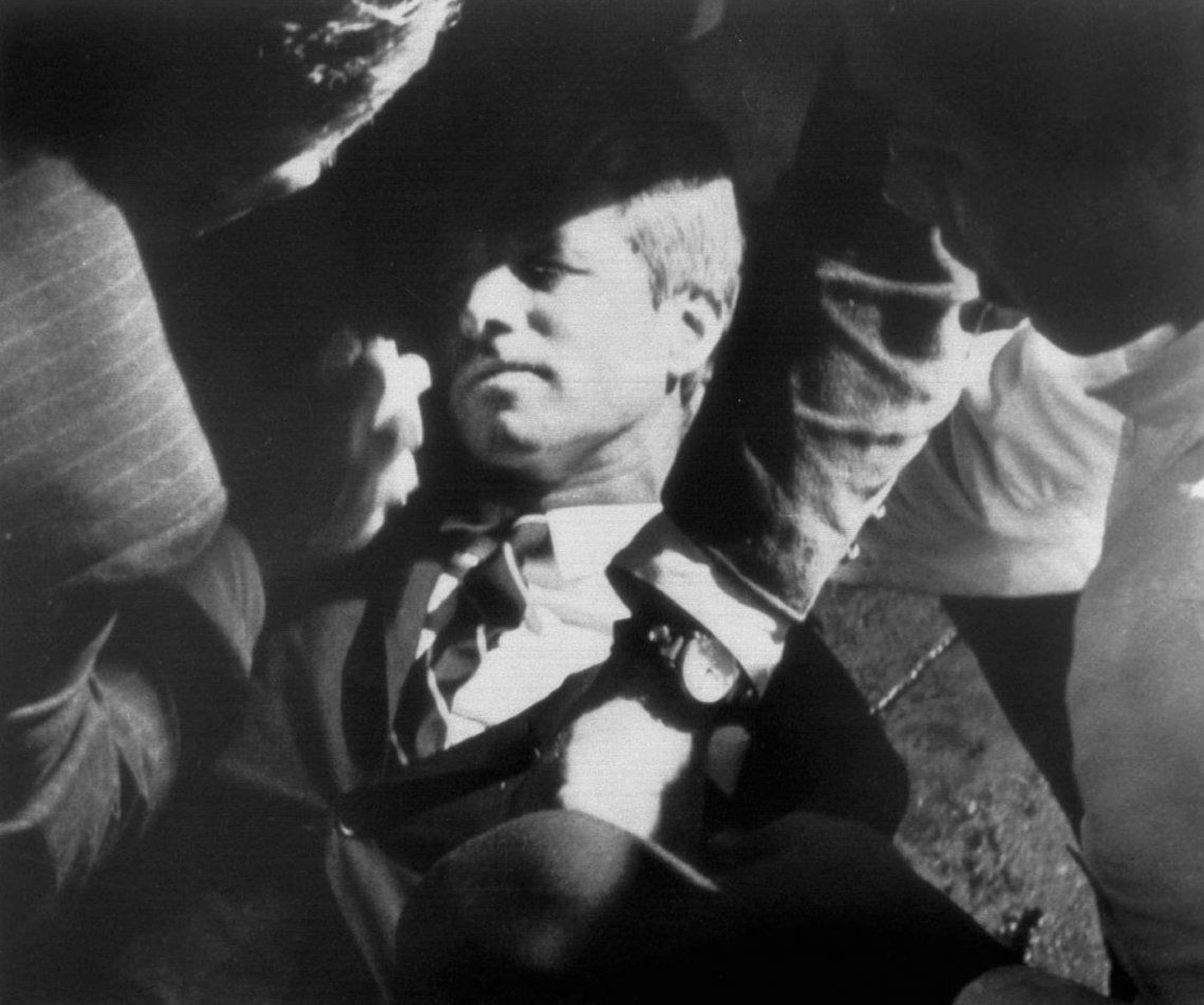 Robert F. Kennedy herido en la cocina del Hotel Ambassador.
