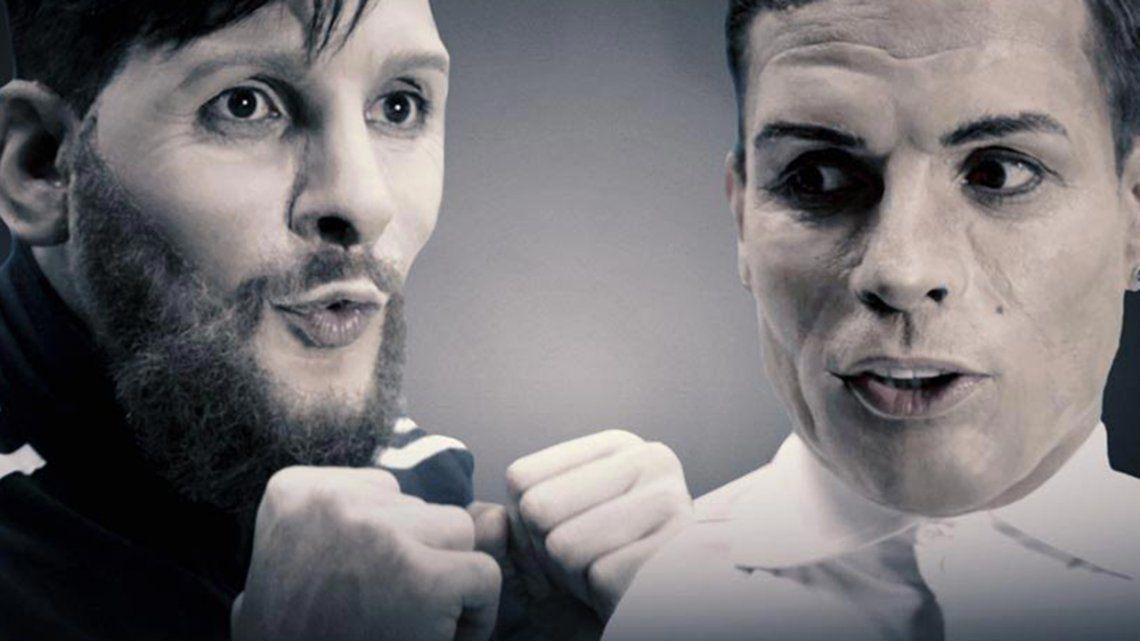 Messi y Ronaldo a las trompadas: el nuevo video de Martín Bossi
