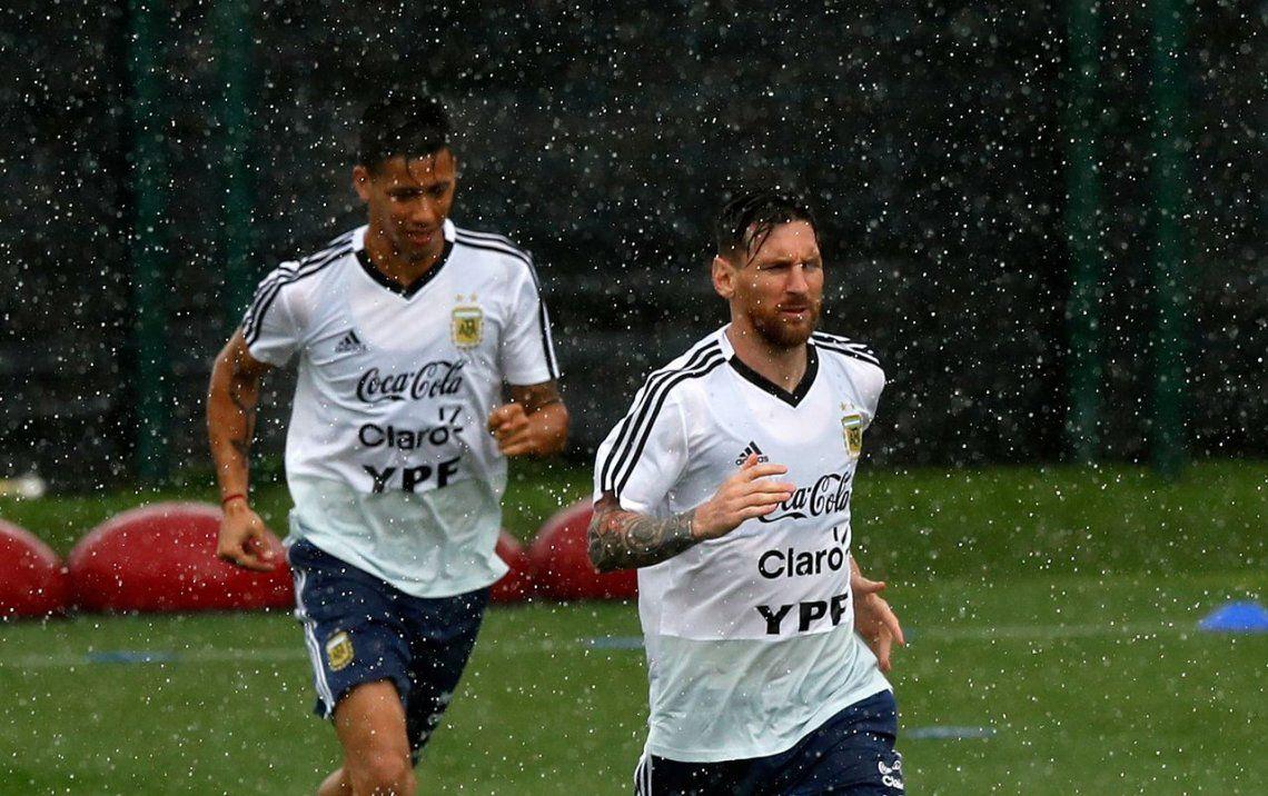 Al sueño de la Selección no lo para ni la lluvia