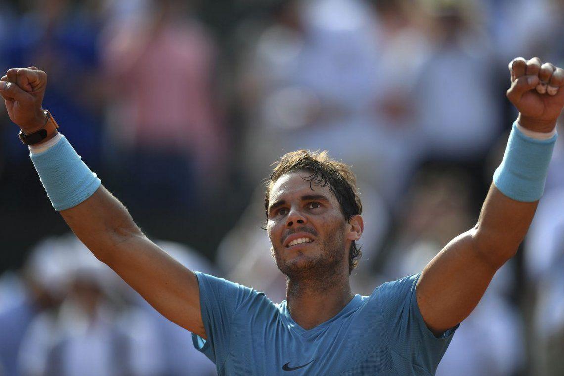 Del Potro perdió en tres sets con Nadal en la semifinal de Roland Garros