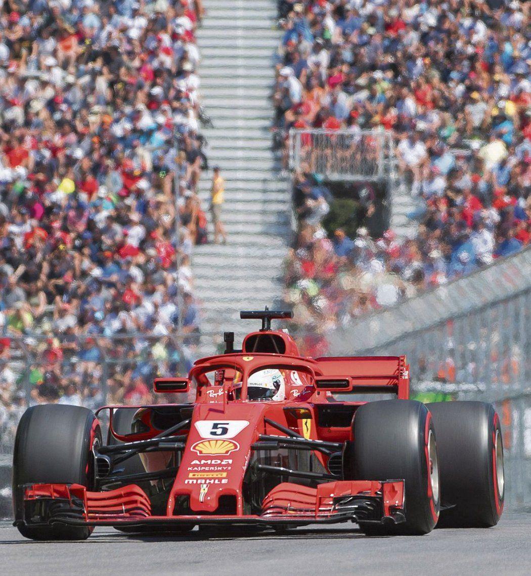 Vettel metió un tiempazo para largar en punta en Canadá
