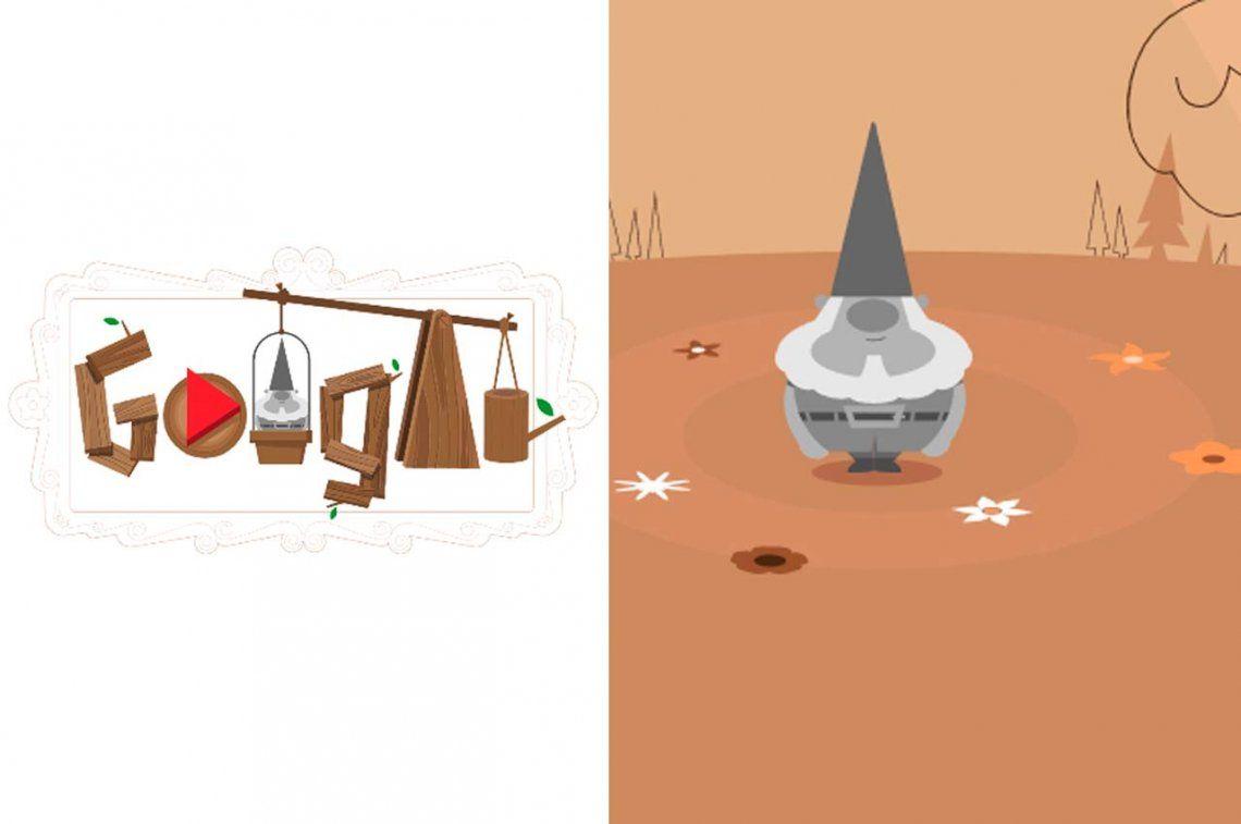 Google comparte un divertido juego sobre la hsitoria de los gnomos de jardín