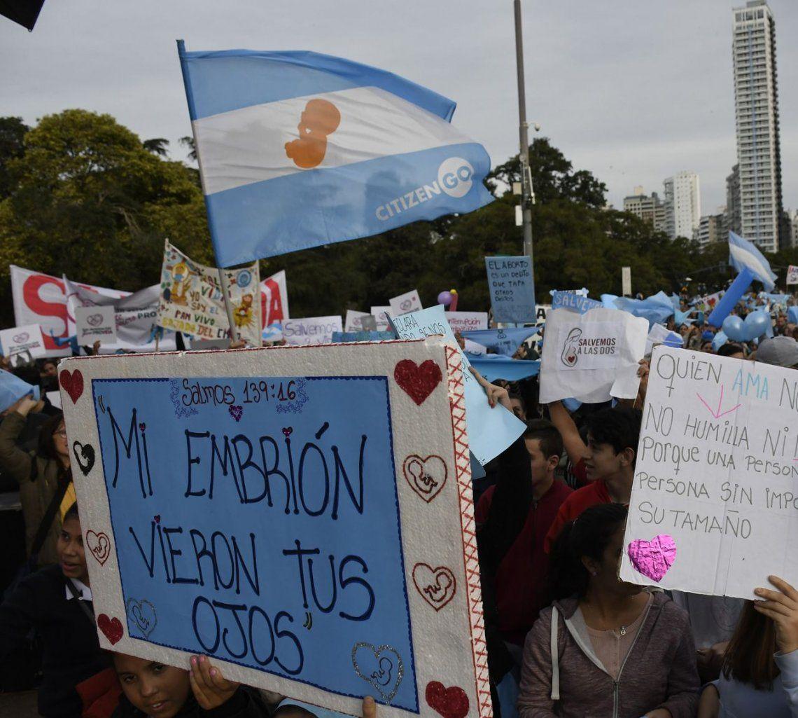 Marchas contra el aborto en todo el país, a tres días de una votación histórica