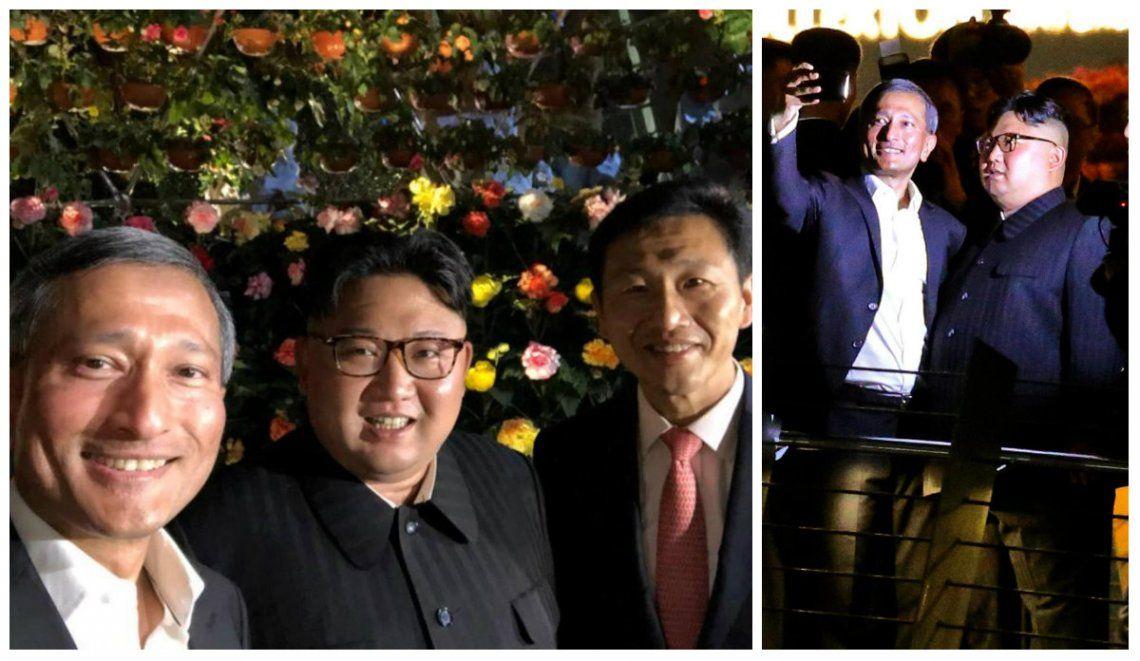 La particular selfie de Kim Jong-un en su paseo de lujo por la noche de Singapur