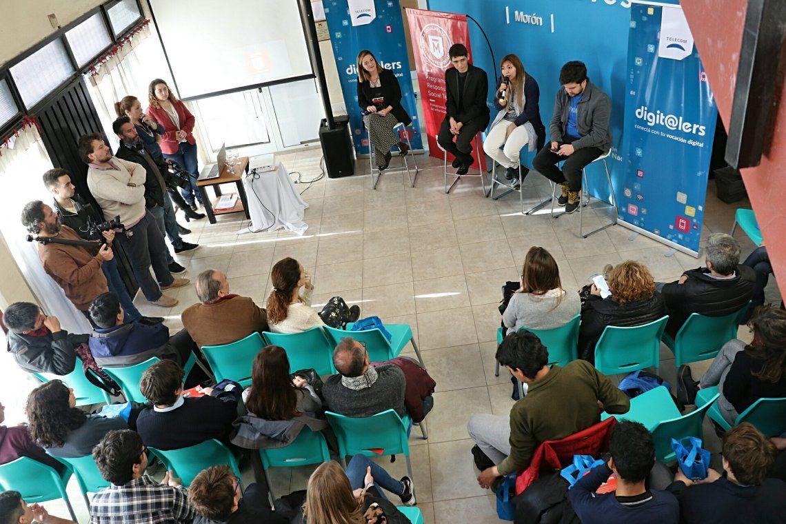 Historias que inspiran: Gino Tubaro y jóvenes emprendedores disertaron en Morón
