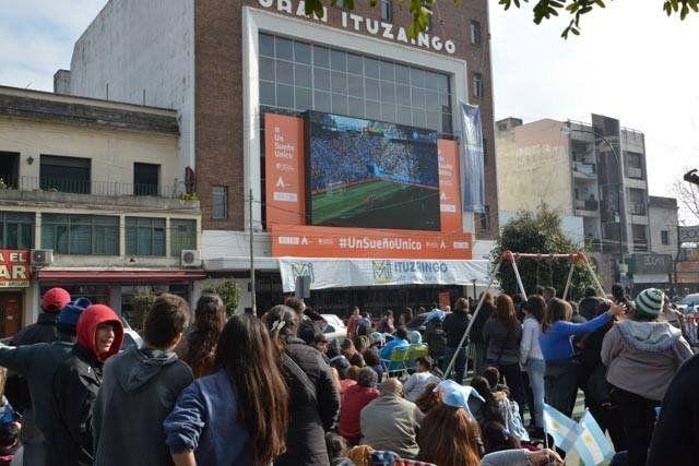 Ituzaingó: transmitirán los partidos de Argentina por pantalla gigante
