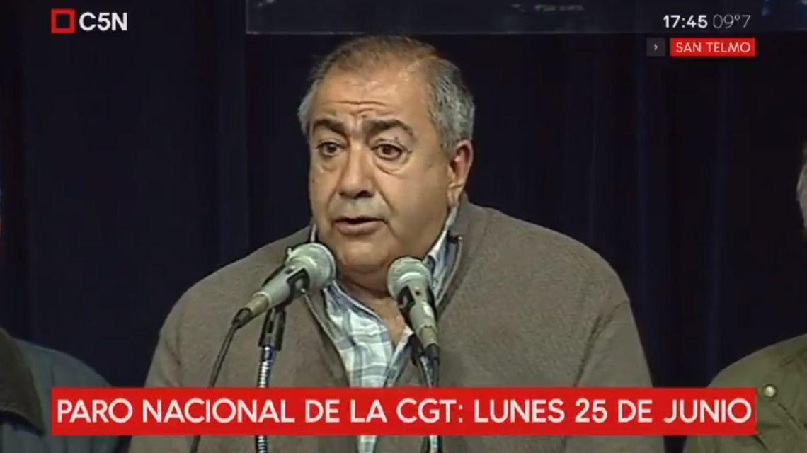 LaCGTdispuso un paro nacional para el lunes 25 de junio, sin movilización