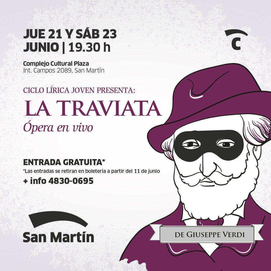 La famosa ópera La Traviata llega al Complejo Cultural Plaza