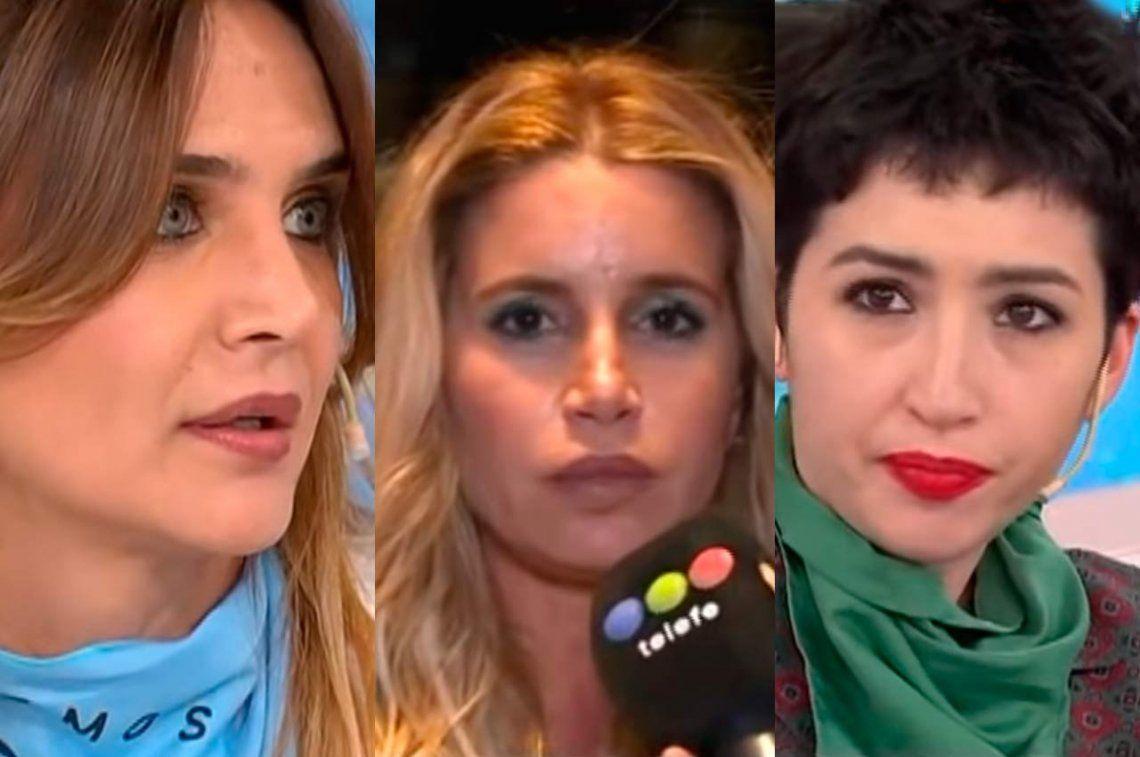 Terrible cruce de Amalia Granata , Florencia Peña y Sofía Gala por el aborto legal