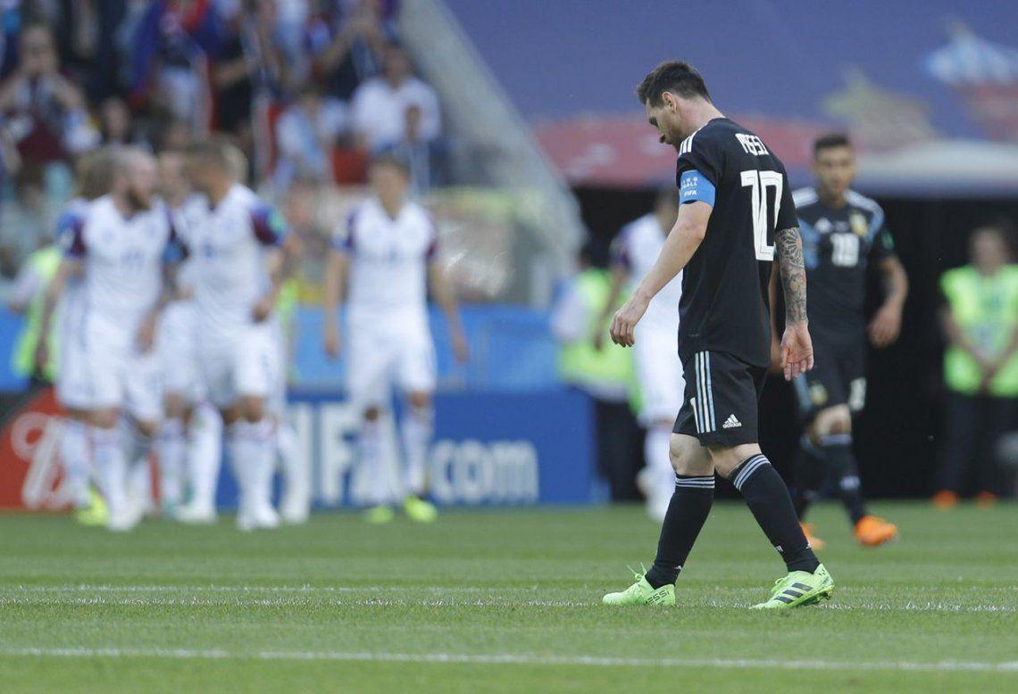 Argentina y un debut preocupante: igualó con Islandia y Messi erró un penal