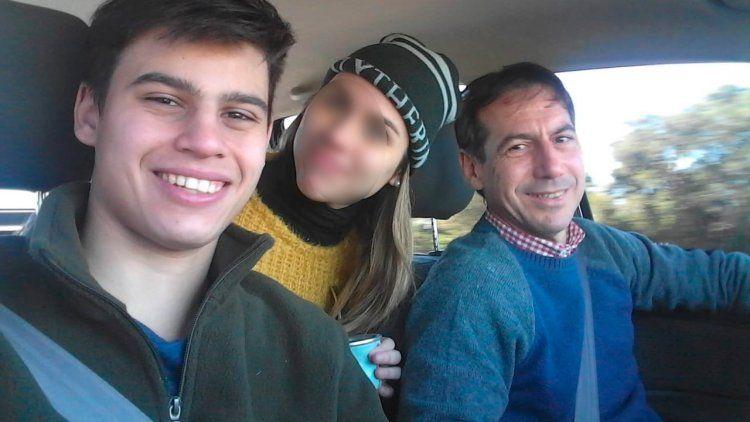 La última foto de Luis Naidenoff junto a su hijo