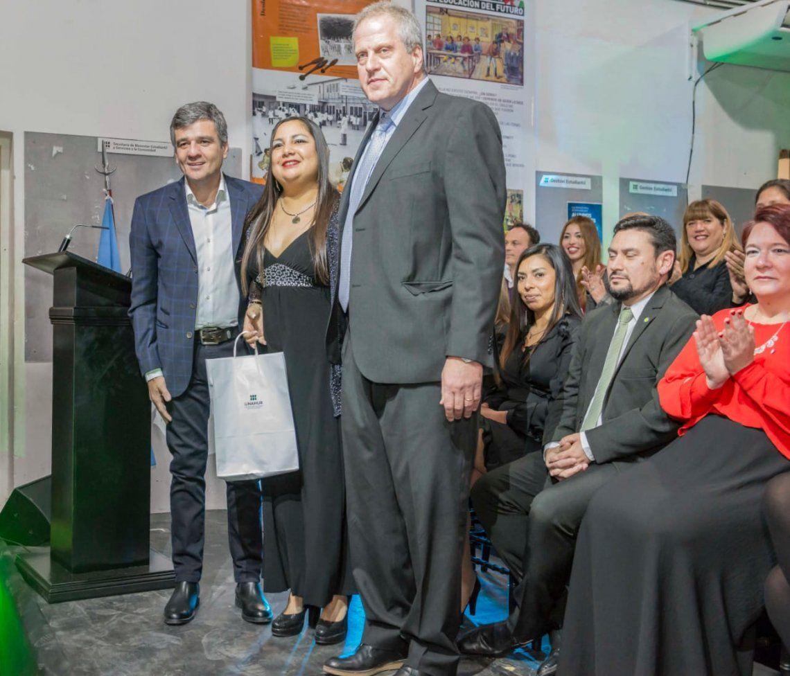 Zabaleta y Perczyk participaron en la primera colación de graduados en la UNAHUR