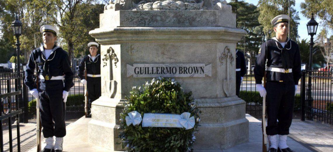 Conmemoraron un nuevo aniversario del nacimiento de Guillermo Brown