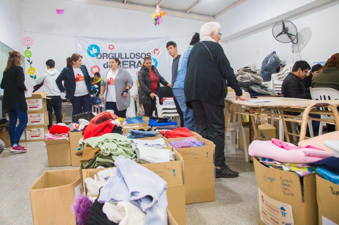 Reunieron ropa para los comedores de Berazategui