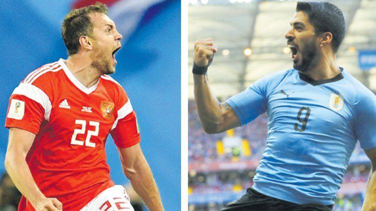 Rusia se mide ante Uruguay, para ver quién termina primero en el Grupo A