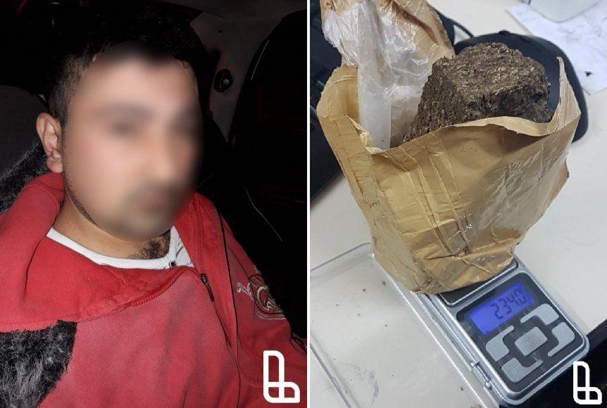 Sorprenden a pasajero de colectivo con un ladrillo de marihuana