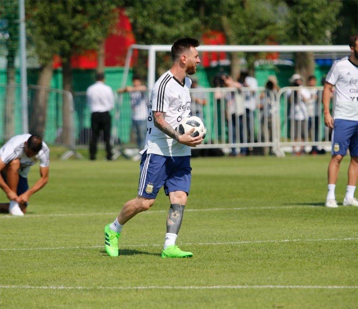 En su último entrenamiento antes del encuentro con Francia, Argentina practicó penales