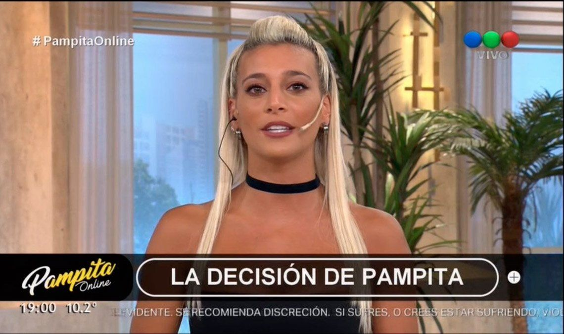 Pampita Offline: la modelo dejó el programa y hubo debate sobre el tema